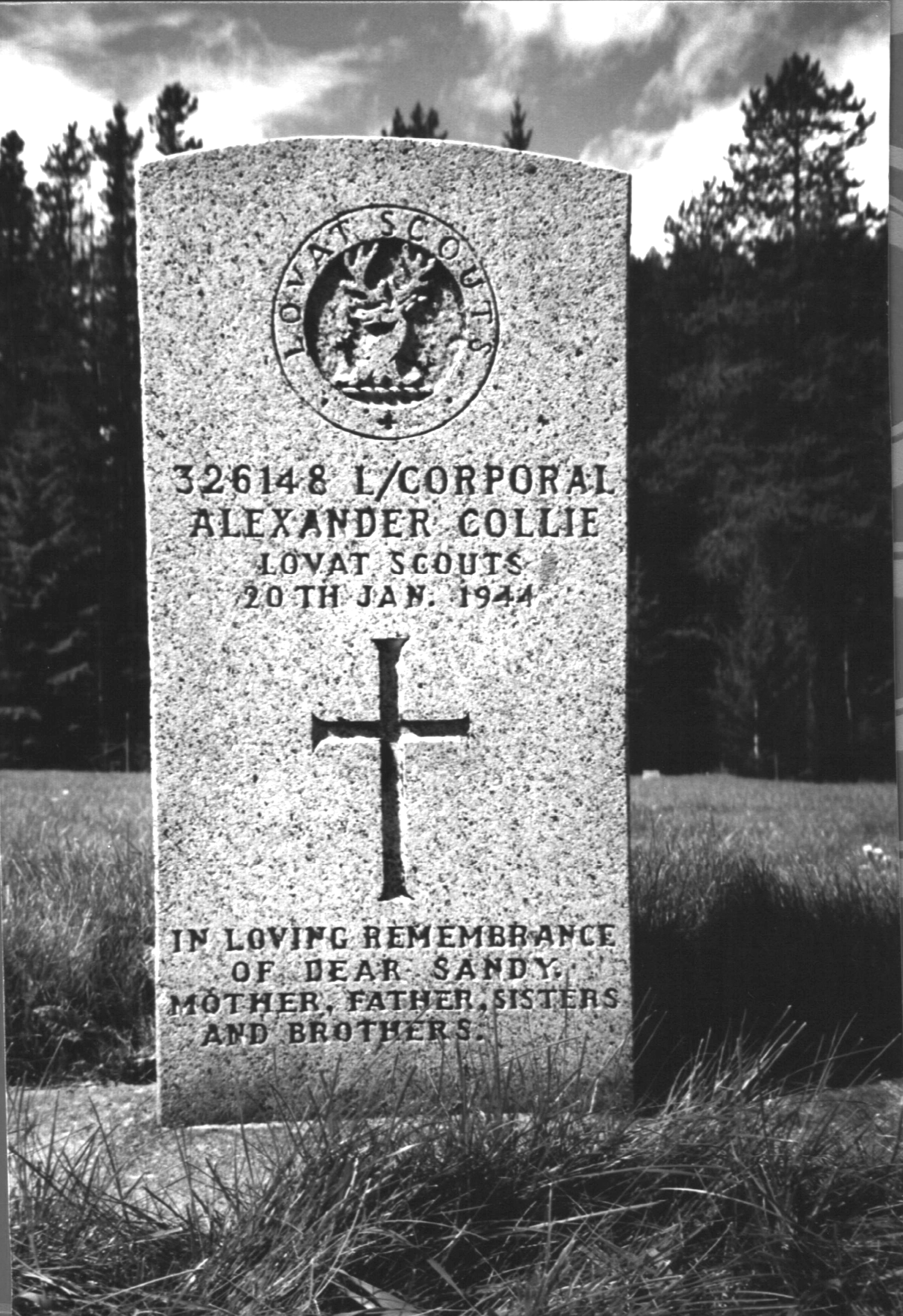 Sandy Collie's Grave in Jasper