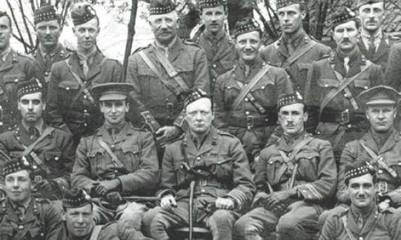 Churchill and the officers of the 6th RSF